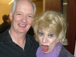 "Helene as ""Joan"" with Colin Mochrie of Whose Line Is It Anyway?"