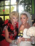 "Helene as ""Joan"" with the beautiful Bride"