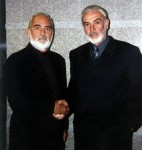 Sir Sean Connery and film doubleJohn Allen