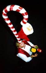 Juggler Bob stuffing his stocking