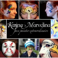 Karina Von Marvelina - Facepainter extraordinaire! - Pony Party in Utica, New York