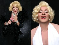 Kevan Evon as Joan Rivers and Marilyn Monroe