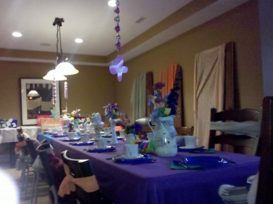 Alice In Wonderland B/day Table