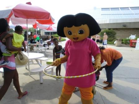 Costumed Dora the Explorer
