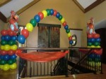 Elmo balloon decorations
