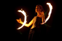 Kitty Kerosene - Fire Dancer in Erie, Pennsylvania