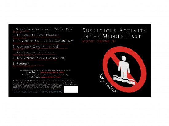 Suspicious Activity In the Middle East  -  album cover