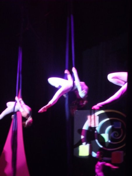Choreographed Multiple Silk Performers