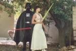 Darth Vader and Princess Leah