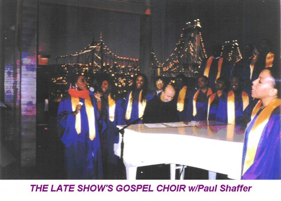 THE LATE SHOW'S GOSPEL CHOIR