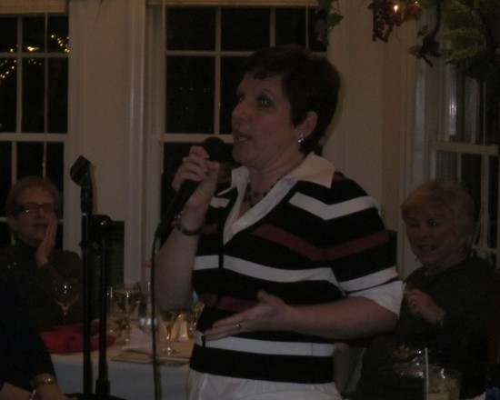 Jeannine at the Mic