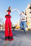 Laura Ernst High Five on Stilts