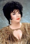 """Elizabeth Taylor"" in Gold Dress"