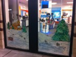 Holiday window painting NJ