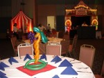 balloon decore circus table
