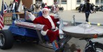 Magic Santa Claus aboard the STAR TRIKE with Baby