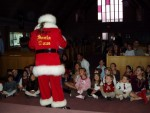 Magic Santa Claus perfoms for the Tijuana Toy Run