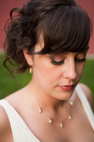 Vintage-inspired bridal makeup
