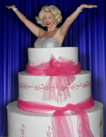 Marilyn Monroe Jumping Out Of Birthday Cake