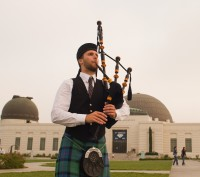 Max Gillespie - Bagpiper in Huntington Beach, California