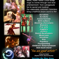 Mystic Family Circus - Aerialist in Stockton, California