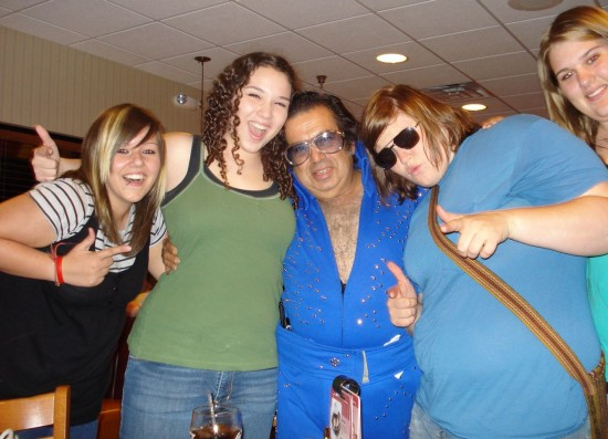 Elvis at Dennys after a show
