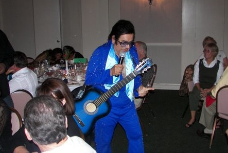 Elvis Entertains at his high school reunion