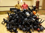 110 Spiders for a balloon drop