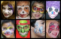 Mona Lisa Face Painting - Inflatable Movie Screen Rentals in Norman, Oklahoma