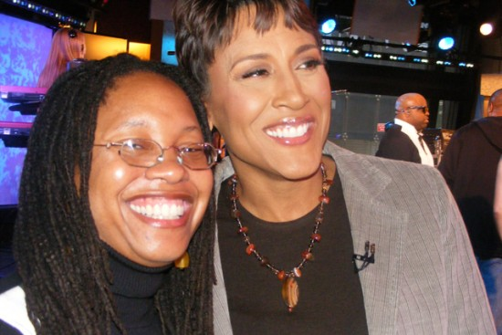 Monice and Robin Roberts, GMA Host.