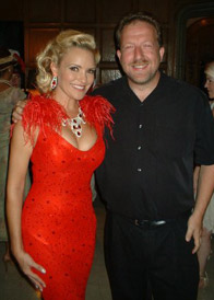 David with Bridget at the Playboy Mansion