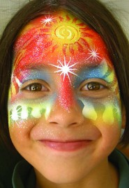 "New School ""Airbrush"" Face Painting"