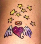 Glitter Tattoo - Hearts &amp; Stars 2