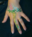 Bridal Hand Glitter Tattoo