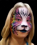 face painted rainbow tiger by nancy kartoon