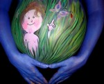 Pregnant belly painting by Nancy Kartoon