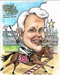 Horse Racing Caricature Cuban Missle Wins by Phoenix Caricature Artist Don Evenson