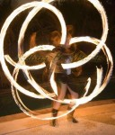 Annelise on Fire Poi