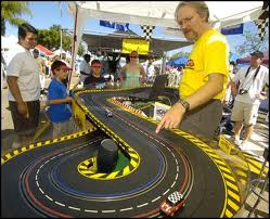 Outdoor slot car event.
