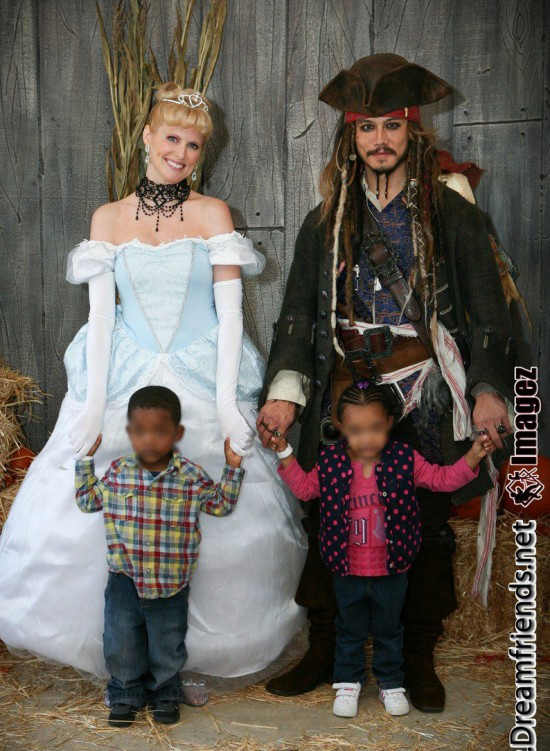 Captain Jack Sparrow Impersonator & Glass Slipper Princess
