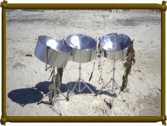 Pans on the Beach