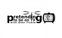 Pretending to be on TV with Glen Tickle