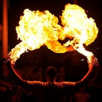 Pyroteque - Fire Eater in Aiken, South Carolina