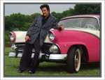Ralph with his 1955 pink and white Crown Victoria