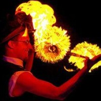 Resplendent Flames - Fire Dancer in Elizabeth City, North Carolina