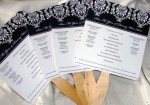 Black and White Damask Program Fan
