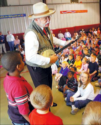 """Riverboat John"" in School Gym Assembly"