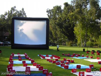 Out door movie screen