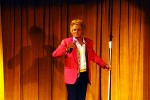 Danny D performing as Rod Stewart