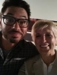Clean Female Comedian Sally Edwards and Al Madrigal of The Daily Show